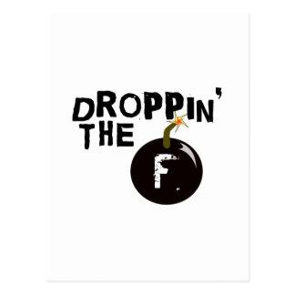 Droppin Fの爆弾 ポストカード