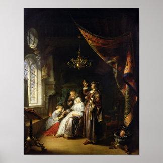 Dropsical女性、c.1663 ポスター
