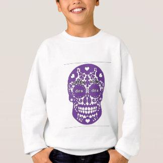 DRSの紫色のスカル スウェットシャツ