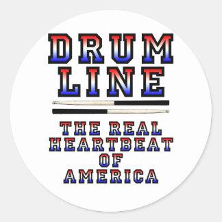 Drumlineの心拍 ラウンドシール
