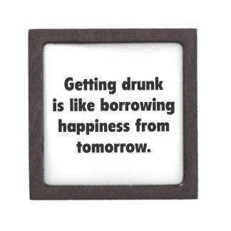 drunk得ることはトムから幸福を借りることのようです ギフトボックス