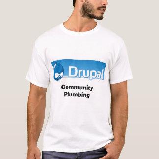 drupallogo、コミュニティ配管 tシャツ