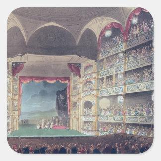 Druryの車線の劇場1808年のインテリア スクエアシール