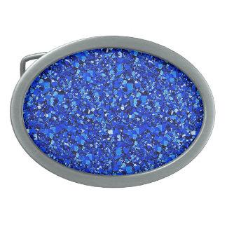 Druzyの水晶-サファイアの青 卵形バックル