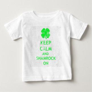 DSの平静そしてシャムロックを保って下さい ベビーTシャツ