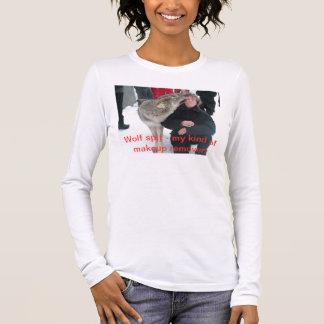 DSCF1447のオオカミのつば-私の種類の化粧の除去剤! 長袖Tシャツ