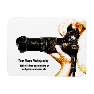 DSLRのカメラを握っているカメラマン マグネット