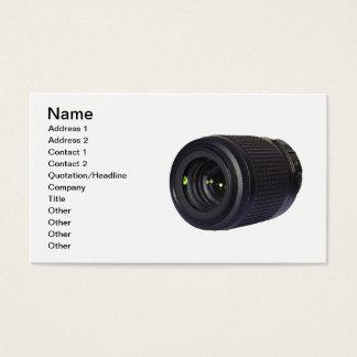 DSLRのカメラレンズ 名刺