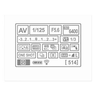 DSLRの設定 ポストカード