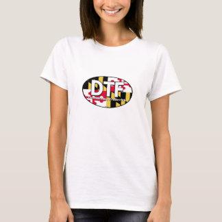 DTF都心のFrederickメリーランドの旗の女性ワイシャツ Tシャツ