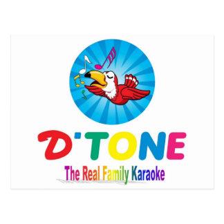 D'Tone家族のカラオケの記念品 ポストカード