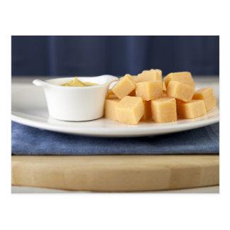 Dtuchのチーズおよびマスタード ポストカード