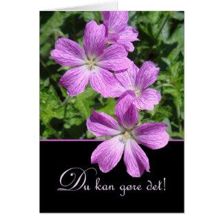 DUのkan gøreのdet! デンマーク語、花の勇気付けられる カード