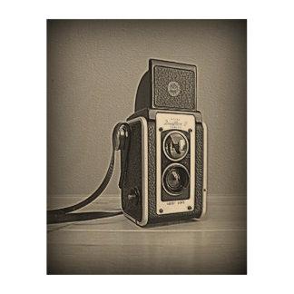 Duaflex白黒IIのカメラ ウッドウォールアート
