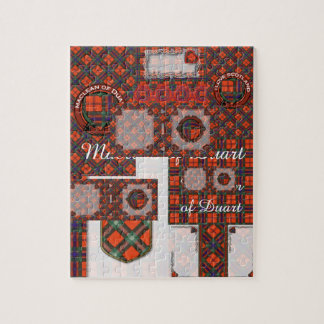 Duartの格子縞のスコットランド人のタータンチェックのMaclean ジグソーパズル