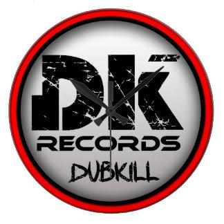 DubKillは時計を記録します(大きい) ラージ壁時計