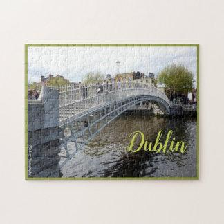 Dublin (Ha'penny Bridge) with text ジグソーパズル