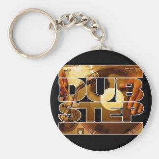 DUBSTEPのビニールのdubplates音楽ダビングのステップダウンロード ベーシック丸型缶キーホルダー