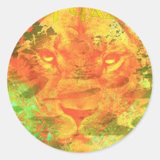 Dubstepのライオン- DJ Qazi ラウンドシール