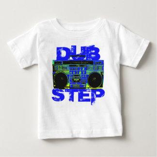Dubstepの青Boombox ベビーTシャツ