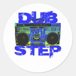Dubstepの青Boombox ラウンドシール