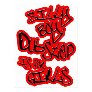 Dubstepは女の子galsの女性女性のDubstepのためです ポストカード