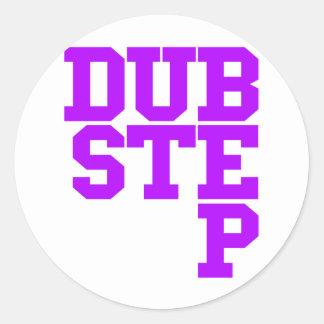 Dubstep Blockletter (紫色) ラウンドシール