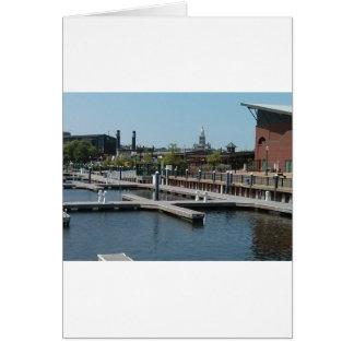 Dubuqueのアイオワの氷港、ミシシッピー川 カード