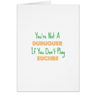 DubuqueのアイオワのEuchreのトランプゲームプロダクト カード