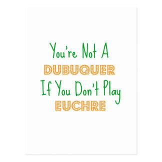 DubuqueのアイオワのEuchreのトランプゲームプロダクト ポストカード