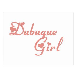 Dubuqueの女の子のTシャツ ポストカード