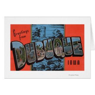 DubuqueのIowaLargeの手紙ScenesDubuque、IA カード