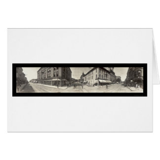 Dubuqueアイオワの通りの写真1907年 カード
