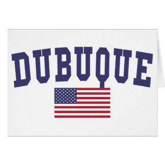 Dubuque米国の旗 カード