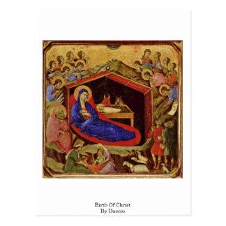Duccio著キリストの誕生 ポストカード