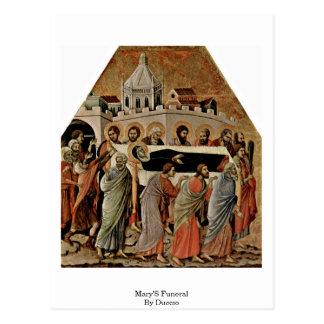 Duccio著メリーの葬式 ポストカード