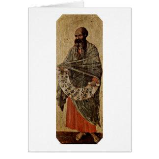 Duccio著予言者Malachi カード