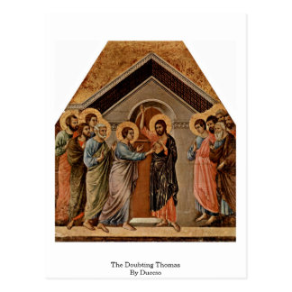 Duccio著疑うトマス ポストカード