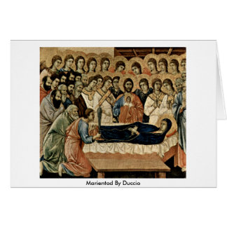 Duccio著Marientod カード