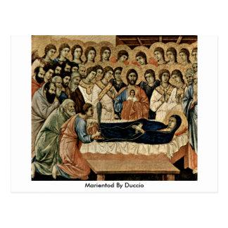 Duccio著Marientod ポストカード