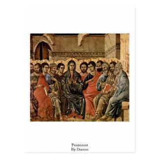 Duccio著Pentecost ポストカード