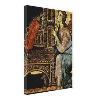 Duccio di Buoninsegna -天使 キャンバスプリント