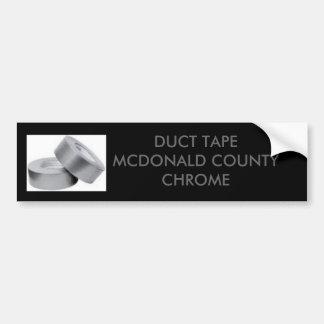 ducttape、ガムテープのMCDONALD郡のクロム バンパーステッカー