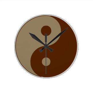 Dudeism Yingヤン ラウンド壁時計