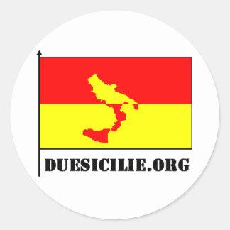duesicilie.orgのステッカー ラウンドシール
