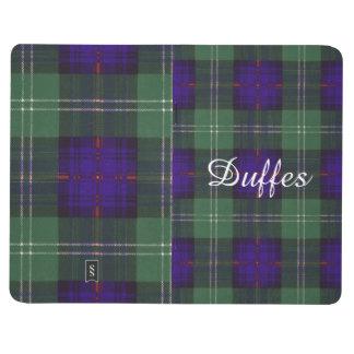 Duffesの一族の格子縞のスコットランドのキルトのタータンチェック ポケットジャーナル