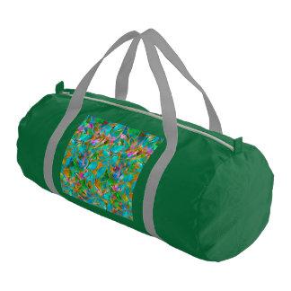 Duffleの体育館のバッグの花柄の抽象芸術のステンドグラス ジムバッグ