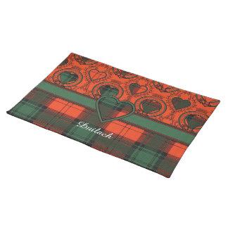 Duilachの一族の格子縞のスコットランドのキルトのタータンチェック ランチョンマット