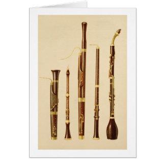 dulcianのoboe、バスーン、oboe da caccia a カード