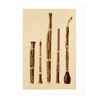 dulcianのoboe、バスーン、oboe da caccia a ポストカード